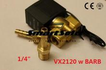 Free Shipping 1/4″ Electric Solenoid Valve Air Gas Diesel B20N 12VDC w BARB Fittings