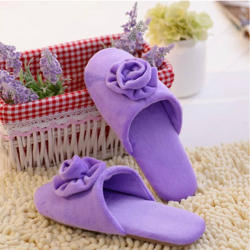 Spring flowers ladies cotton slippers at home, comfortable and non-slip Korean version of the wooden floor home indoor lady slip<br><br>Aliexpress
