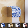 Free Shipping Stainless Steel Toilet Paper Holder Roll Tissue Case with Cover Dispenser Multi color Choice