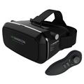 2016 New VR SHINECON Virtual Reality 3D Glasses Helmet VR BOX Headset For Smartphone 3 5