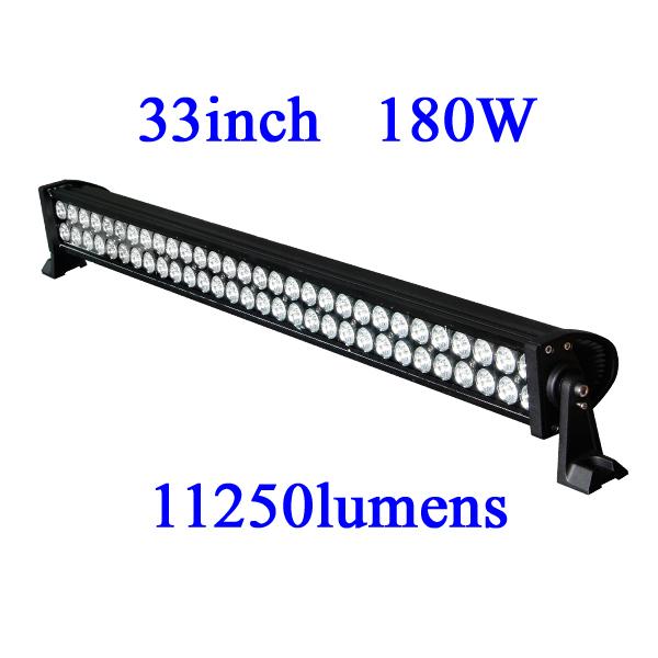 180W LED Work Light 11250 Lumen  truck headlight, 33 inch 10-30V DC IP67 cree free shipping