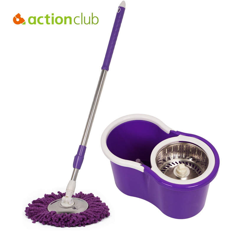 Actionclub O-Cedar Easy Wring Spin Mops Microfiber Original Floor Cleaning System Mops(China (Mainland))