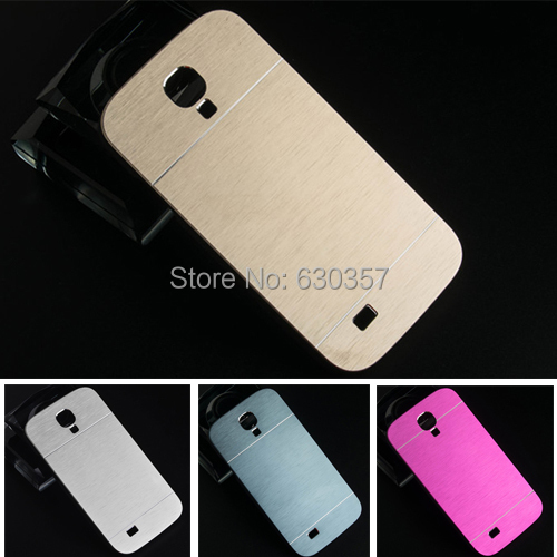 Luxury Metal Brush Aluminum+PC Material Hard Case for Samsung Galaxy S4 i9500 back cover phone Cases(China (Mainland))
