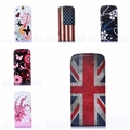 Luxury PU Leather Case Flower Floral Flip up and down Cover for Samsung Galaxy Ace 3