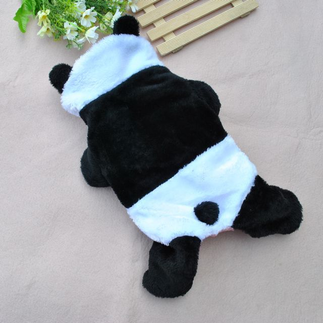New design dog clothes cute panda pet clothing warm winter small medium dog cat Chihuahua Yorkshire Poodle Pitbull PT037(China (Mainland))