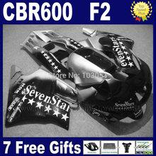 Buy Motorcycle fairings for Honda CBR600 F 1991 1992 1993 1994 CBR 600 F2 CBR600 F2 91 92 93 94 black sevenstars fairing set+ tank for $348.75 in AliExpress store