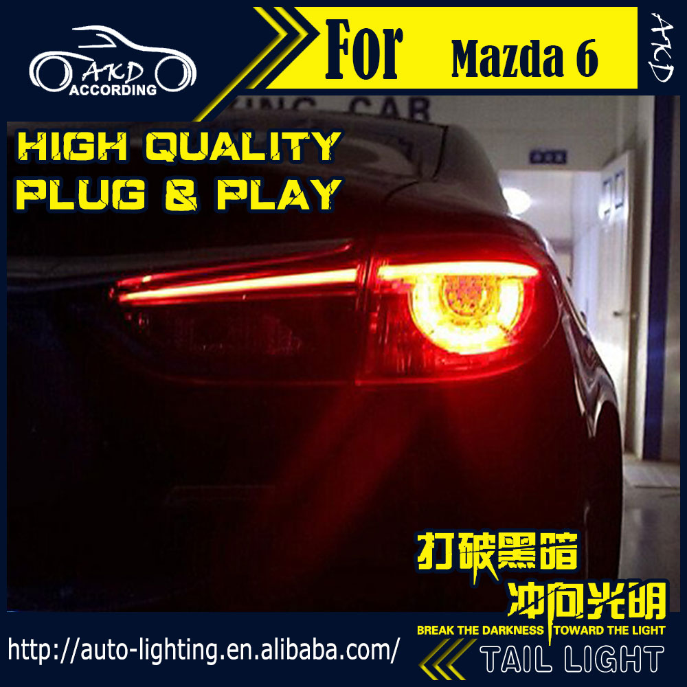 Car Styling Tail Lamp for Mazda 6 Atenza LED Tail Light 2014-2016 New Mazda6 LED Rear Lamp LED DRL+Brake+Park+Signal Stop Lamp(China (Mainland))