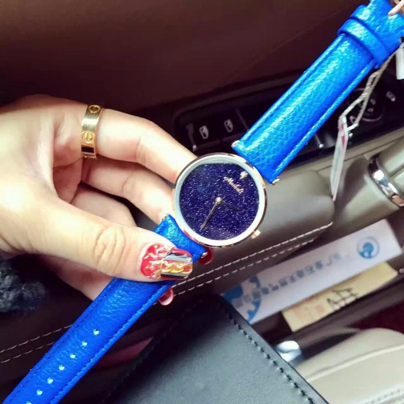 Мода Марка Женщины Кварцевые Платье Смотреть Натуральная Кожа Полный Кристалл Алмаза Bling Блеск Дамы Наручные Часы Relojes Mujer 2016