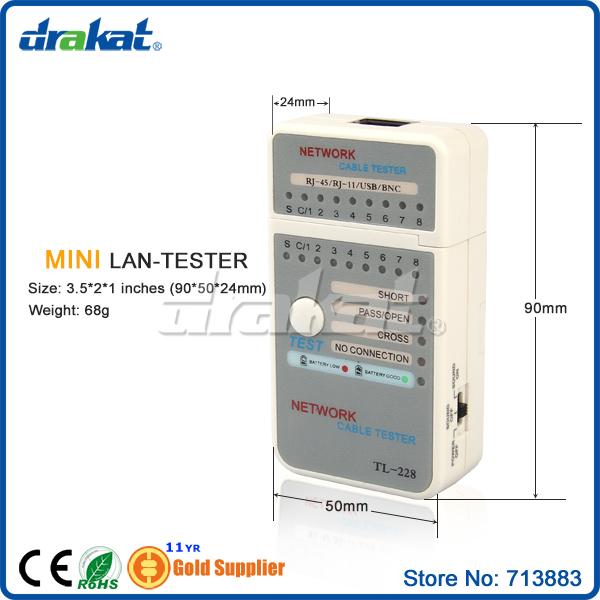 Mini Cable Tester RJ45 RJ11 BNC USB(China (Mainland))