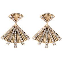 2015 Vintage Fan Dangle Earring Women Earring  Summer Jewelry Free Shipping (Min $20 can mix)(China (Mainland))
