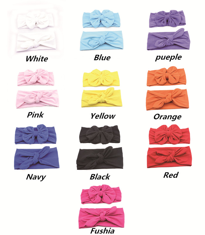 Newborn baby bow headband and Mom Topknot Headwrap set , Cotton Mommy and me bow headband set ,baby hair accessories photo prop(China (Mainland))