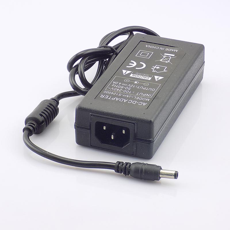 DC 12V 4A Power Supply Adapter Transformer AC 110-240V to Power Adapter for CCTV Security Camera LED Strips Light Converter(China (Mainland))