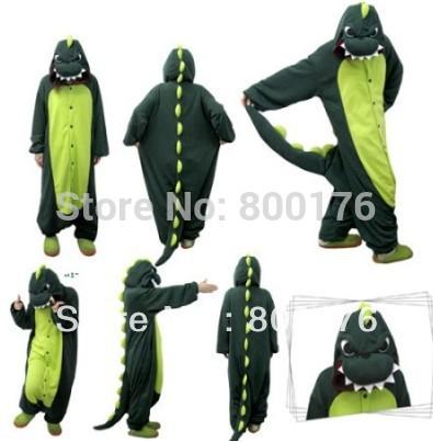 Полипропилен walson hotonesie взрослые Fleecegreen динозавр onesie унисекс Onesies животное пижамы косплей-костюмы пижама