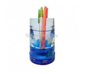 Hot Sale 4 Port Liquid USB 2.0 Pen Holder Hub, Low Price,Promotion(China (Mainland))