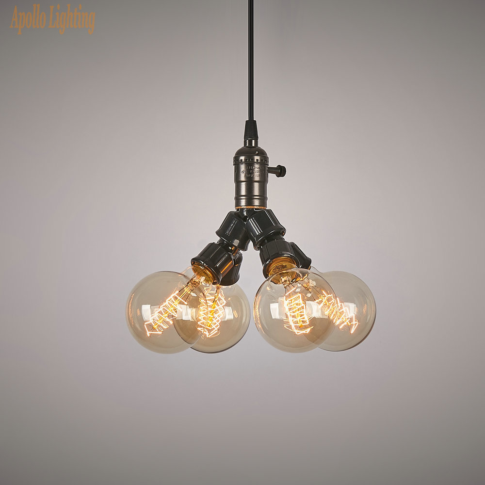Vintage Antique E26/E27 Edison Bulb Chandelier Lights Hanging Lamp Holder Incandescent For Pendant Lamp Droplight(China (Mainland))