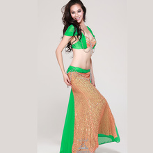 Belly dance sexy single skirt slim hip set performance wear