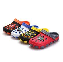 Kids Summer Sandals Slippers GIrl&Boy Children Cartoon Frog Croc Hole Shoes Wear Non-slip Baby Sandals Garden House Shoes