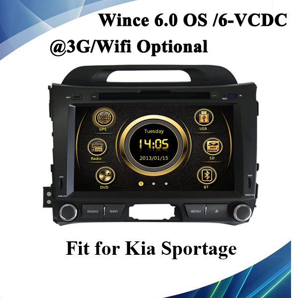 Car DVD for Sportage 2012 8'' touch Screen Size and GPS navigator type car audio built in GPS voice guide steering wheel control(China (Mainland))
