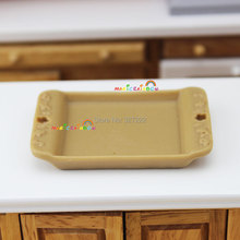 Cute Mini Servingtray Tray for Bowl Plate Dish Tableware Kitchen Dollhouse Miniature 1:12 x 1pc(China (Mainland))