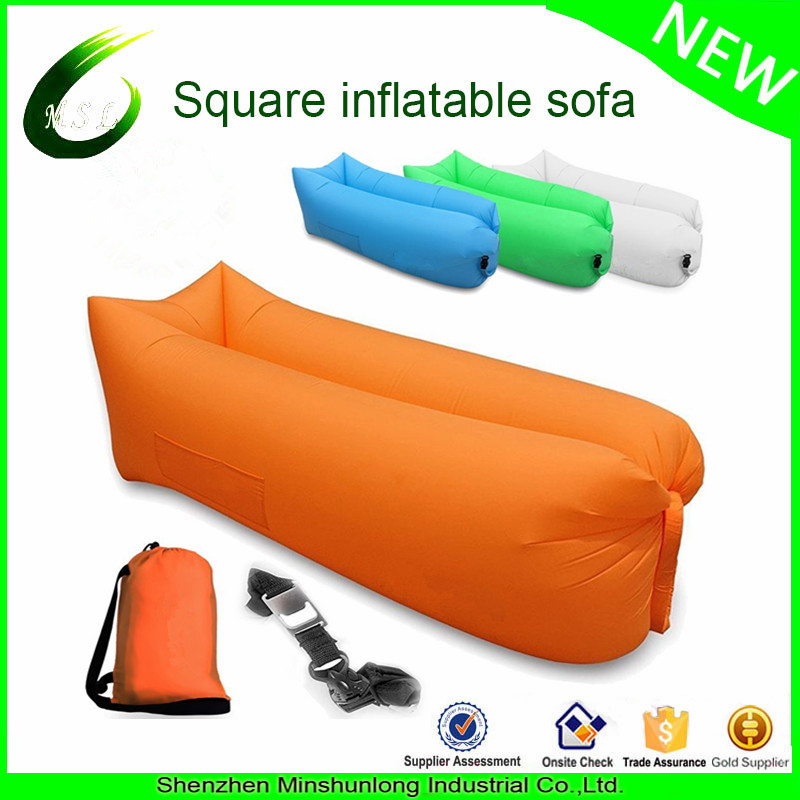 2016 good quality best selling bulk buy fast inflatable sleeping bag outdoor camping hangout couch(China (Mainland))