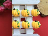 Free Shipping!flatback resin pumpkin simulation of food cabochons for DIY phone case decoration 50PCS/lot