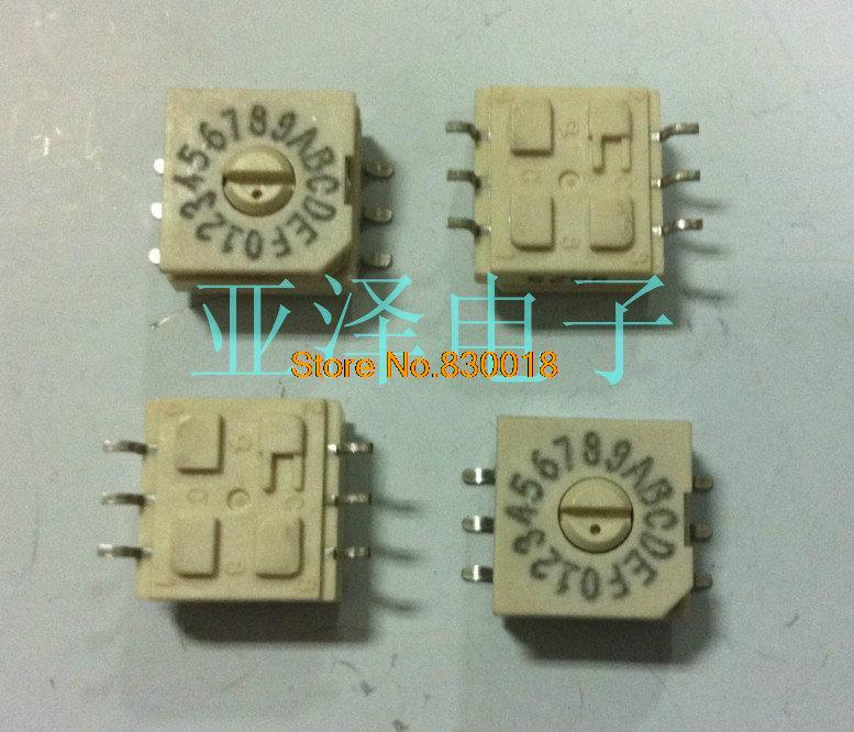 [ SA ]American GRAYHILL rotary switch 16 spin 0 F dial the code switch coding switch hab16wr is 94 yards--20PCS/LOT(China (Mainland))