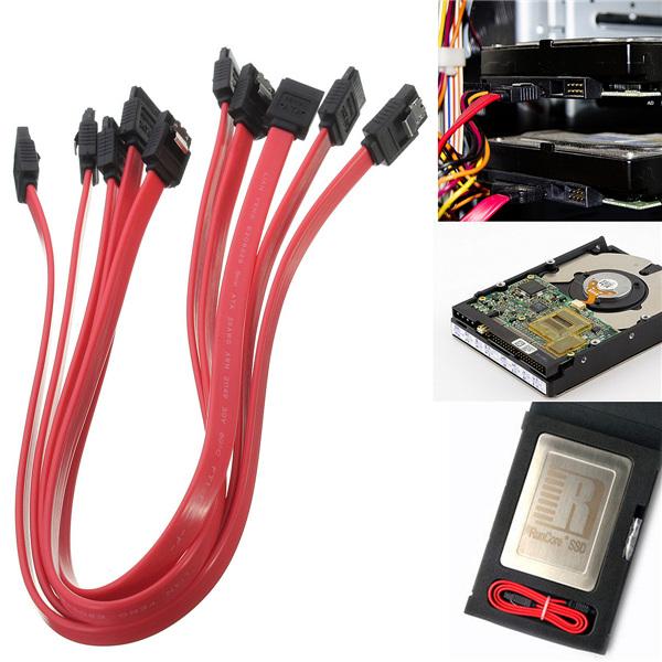 universal 5pcs/lot 0.4m ATA SATA to SATA Serial Standard RAID Data HDD Hard Drive Disk Straight Signal Digital Cable Accessories(China (Mainland))