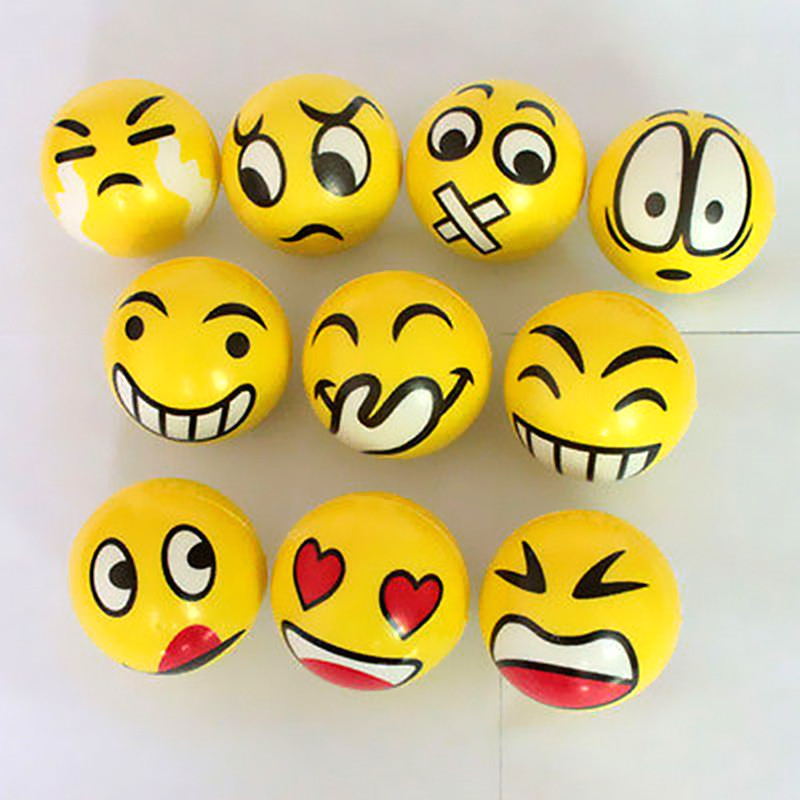 Smiley Ball Smile Stress Ball Smiley Squeeze Ball Anti Stress Reliever ADHD Autism Mood Squeeze Toys Random Hand Wrist Exercise(China (Mainland))