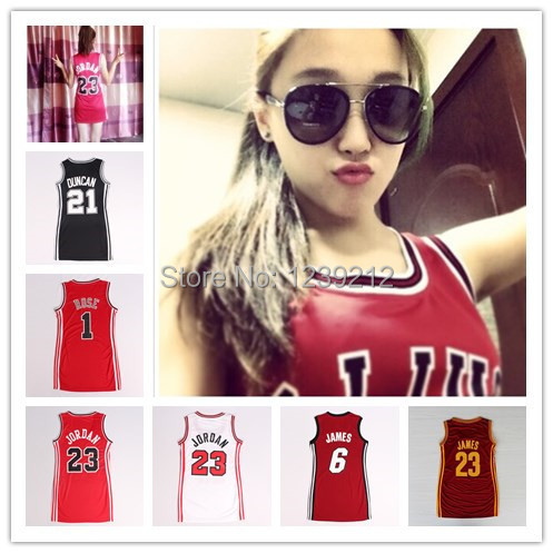 Fast free shipping Women's basketball jersey dress Chicago Jordan,Rose,Miami James,Duncan ... - Fast-free-shipping-Women-s-basketball-jersey-dress-Chicago-Jordan-Rose-Miami-James-Duncan-girls-basketball