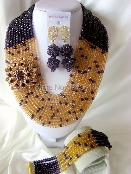 Glamorous Crystal Beads Nigerian Wedding Beads , African Beads Jewelry Set   T-1132<br><br>Aliexpress