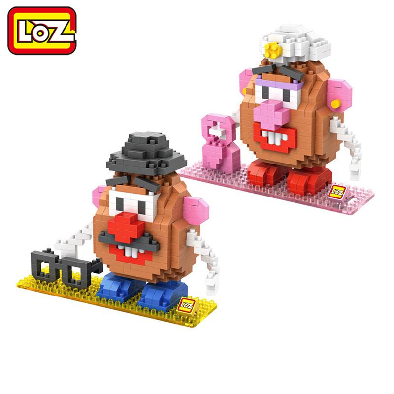 LOZ Toys Story Mr. Potato Head Toy Model Action Figure Building Blocks Original Retail Box 14+ Kids Gift New(China (Mainland))
