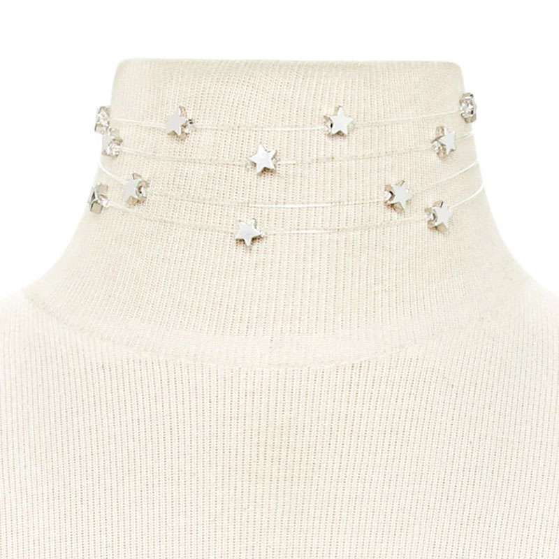 December Europe Ladies Simple Stylish Multilayer Star Necklace Yiwu Manufacturers Direct Marketing Email XL7582(China (Mainland))