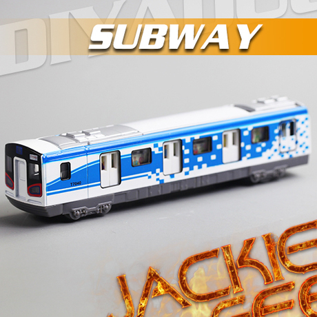 Free shipping Di Yaduo Square Metro acousto-optic Warrior alloy Blue Train Models Toy 1131 www.(China (Mainland))