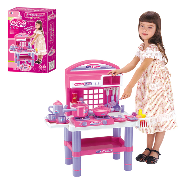 Child toy set sooktops tableware puzzle toy gift