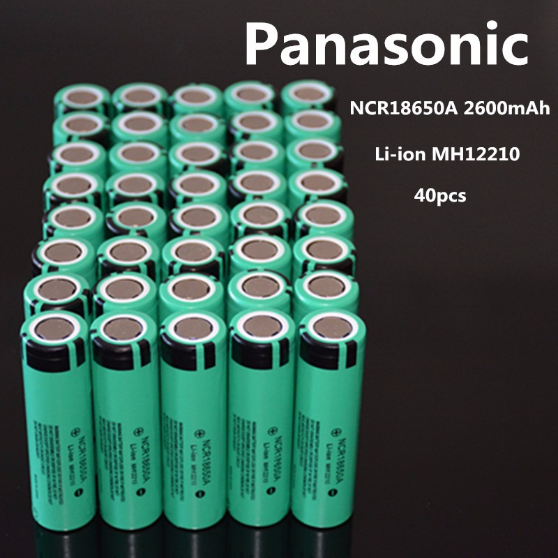 2016 New 40PCS 100% original NCR18650A 3.7V 2600mAh 18650 for Panasonic rechargeable lithium battery ree shopping(China (Mainland))