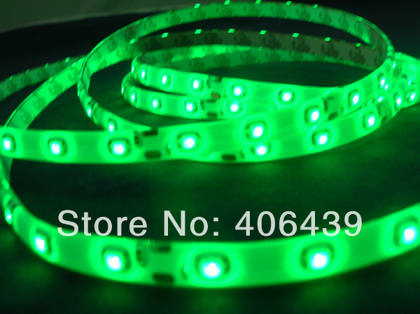 Best price led strip 3528 smd flexible PCB;Green color;60leds/m;5m/reel;DC12V input;white PCB;waterproof silicon coating IP65 - SCOTT LED Store store