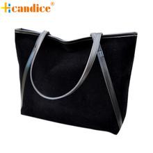 Naivety 2016 New Fashion New Simple Larger Capacity Faux Suede Women Bag Lady Handbag JUN10U(China (Mainland))