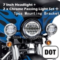 4 5 30W Fog Light 7 HID LED Headlight With Mounting Braket For Harley Davidson Motorcycle