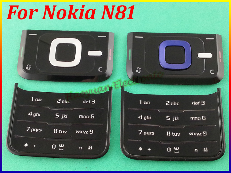 100% New Top Quality Top&Bottom Keyboard Housing Cover Case Replacement For Nokia N81 free shipping(China (Mainland))