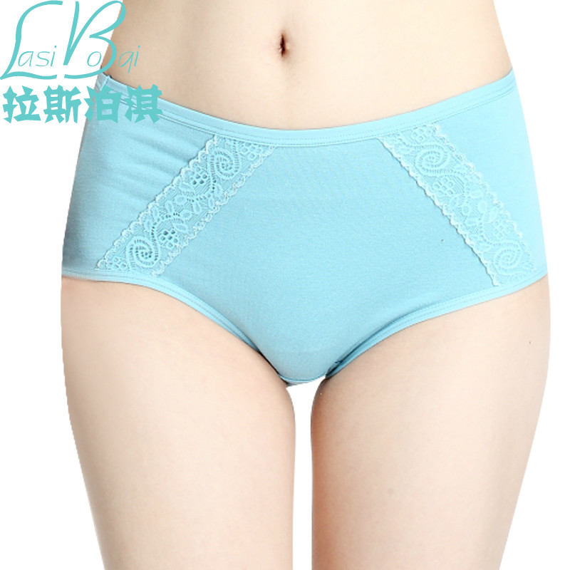 Factory direct fashion sexy lady summer cotton women's underwear comfortable large size waist hip briefs shorts free shipping(China (Mainland))