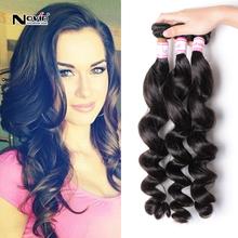 Irina Hair 7a Brazilian Loose wave Virgin hair 3pcs lot 100% Brazilian Spanish wave Remy virgin Human Hair Extensions for sale