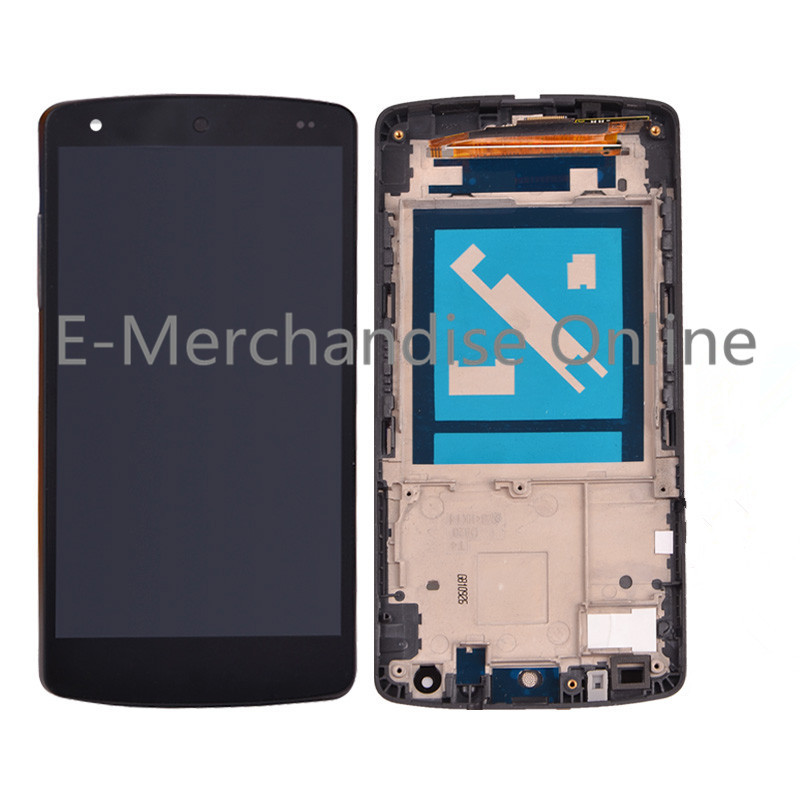 100% tested D820 lcd For LG Google Nexus 5 D821 LCD Display Touch Screen Digitizer Assembly + Frame For Nexus 5 freeshipping