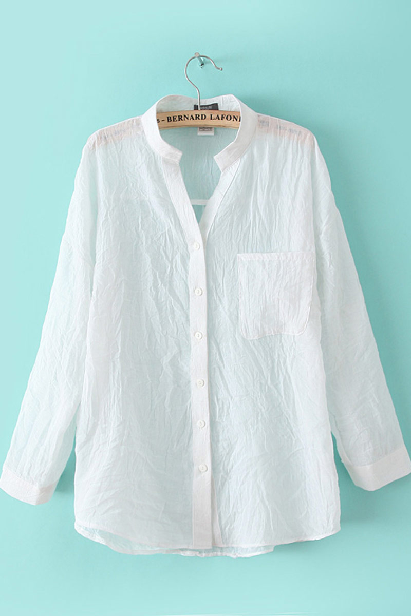 Linen White Shirt Womens