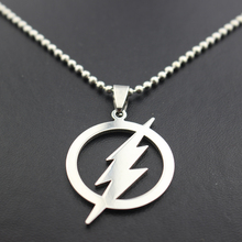 Buy Free Superhero Silver Plated Flash Lightning Symbol Beads Chain Necklace Fashion Men Movie Pendant Necklace Gifts for $1.18 in AliExpress store