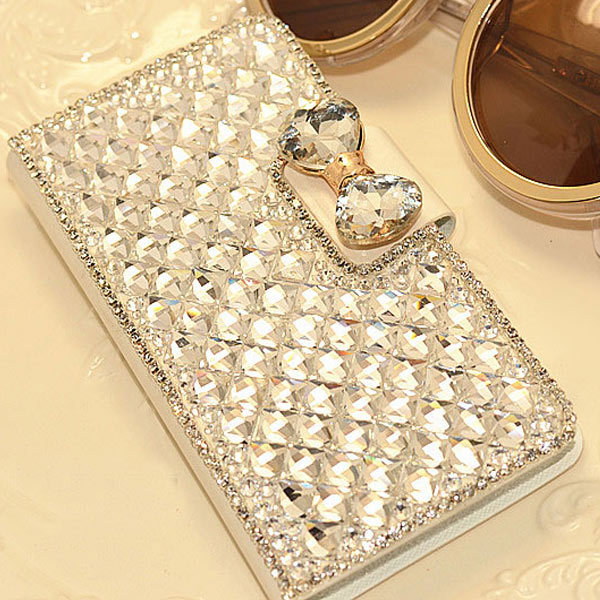 Luxury Bling Rhinestone Diamond for samsung galaxy Note4 Note3 note2 S4 S5 mini S6 S3 S6 Edge N9100 wallet flip leather case(China (Mainland))