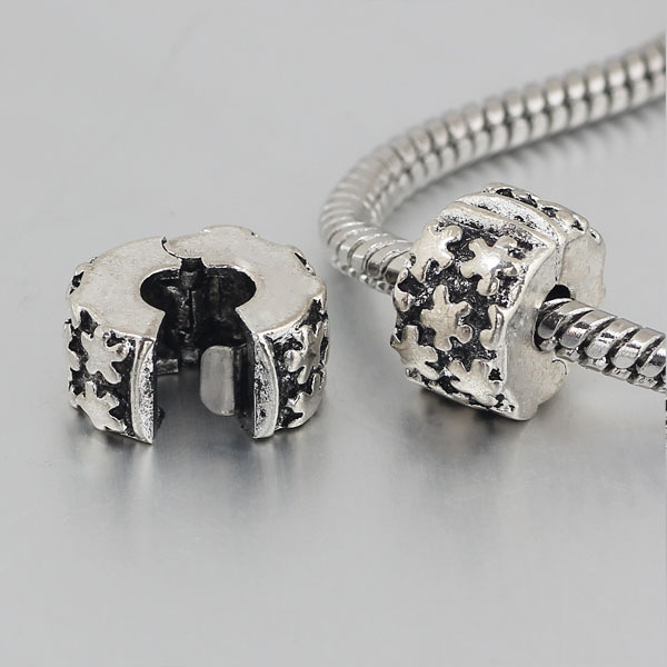 free shipping 1pc silver star clip heart stopper bead charm Fits European Pandora Charm Bracelets PBC029(China (Mainland))
