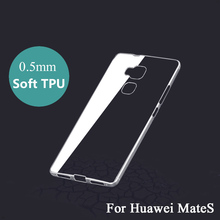 Ultra Thin Transparent TPU Soft Silicon Cases For Huawei Mate S Phone Case 5.5 inch Cover Phone Shell No Scratch Phone Shell XA