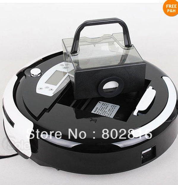Free Shipping By DHL 4 In 1 Multifunctional Intelligent Vacuum Cleaner With LCD,Touch Button,Schedule, 0.7L Capacity Dustbin(China (Mainland))