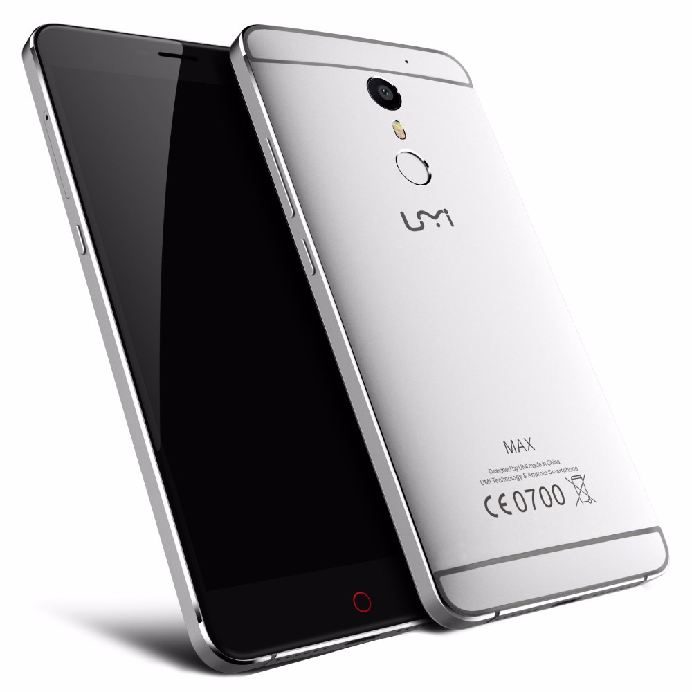 Umi Max Smartphone MediaTek Helio P10 MTK6755M Octa Core 4000Mah 5.5inch 1920*1080 FHD 4G Android 6.0 Type C Metal Mobile Phone