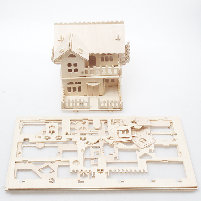 3D Wooden jigsaw Puzzle Toy for Children Kids Educational Toy DIY Handmade Wooden jigsaw Architectural Puzzles Series BZ677637(China (Mainland))